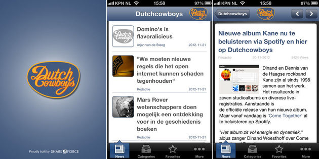 Nieuwe Dutchcowboys iPhone & Android app nu te downloaden