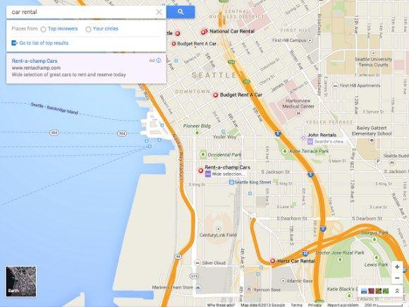 Nieuwe Google Maps interface