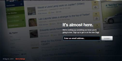 Nieuwe versie van Digg binnenkort beschikbaar