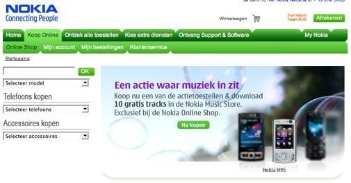 Nokia begint eigen webwinkel