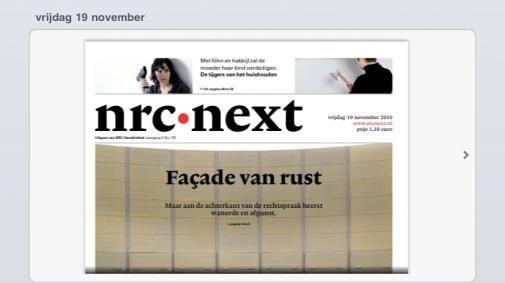NRC-Next heeft zijn digitale iPad-krant