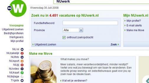 Nu lanceert banensite NUwerk