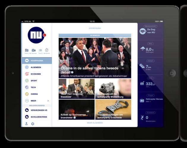 NU.nl lanceert nieuwe iPad / iPhone app