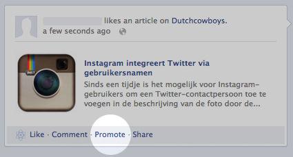 Nu ook Facebook Promoted Posts voor persoonlijke berichten