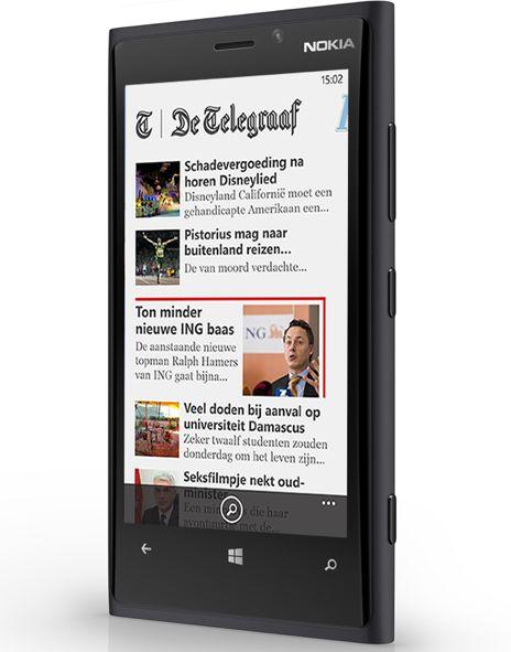 Nu ook Windows Phone 8 app voor Telegraaf