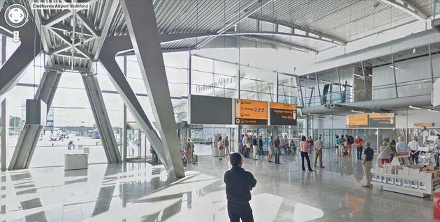 Ook Eindhoven Airport op Google Indoor Street View