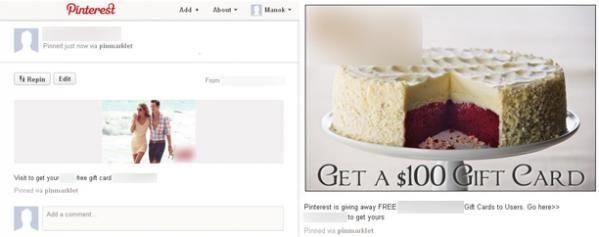 Ook scammers hebben Pinterest ontdekt