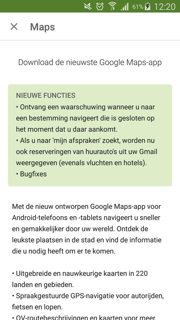 openingstijden google maps