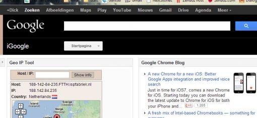 oude Google producten toolbar