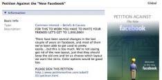 Petitie tegen nieuwe Facebook lay-out