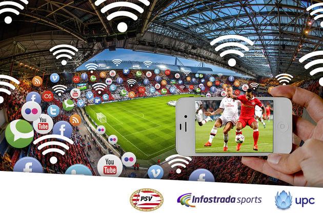 Philips Stadion het eerste 'Connected Stadium' in Nederland
