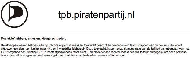 Piratenpartij schrikt van ex parte beschikking