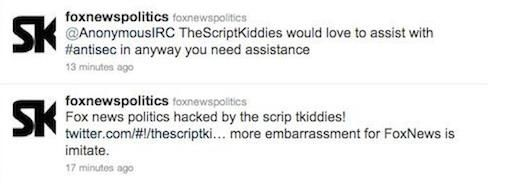 Politieke Fox News twitteraccount gehacked