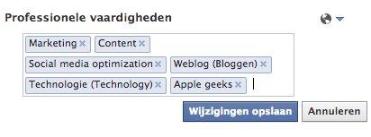 Professionele vaardigheden toevoegen aan jouw Facebook profiel