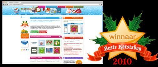Publiek kiest Kerstkaartjesdrukkerij.nl als Beste Kerstshop 2010