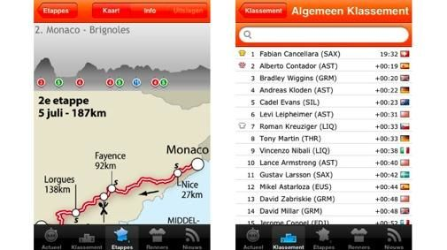 Rabo iTour : Tour de France op je iPhone