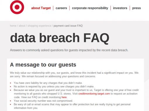 raget webpagina over cybercrime