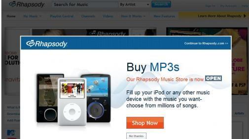Rhapsody kiest voor iPod en V CAST.