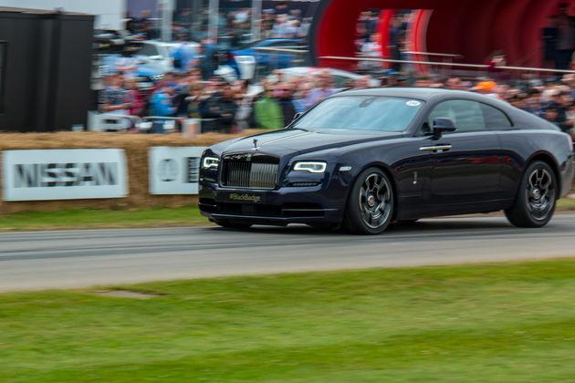 Rolls Royce Wraith Black Badge hillclimb
