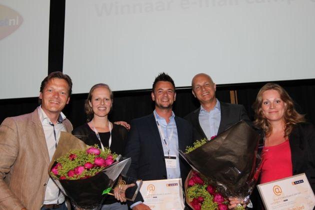 Saartje de Wit (OHRA) en Marktplaats winnaars E-mail Awards 2014