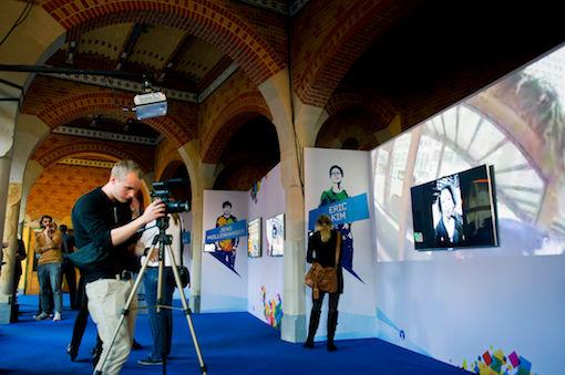 Samsung Live Wi-fi foto-expositie in Beurs van Berlage