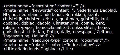 Sexy tagging op het Nederlands Dagblad