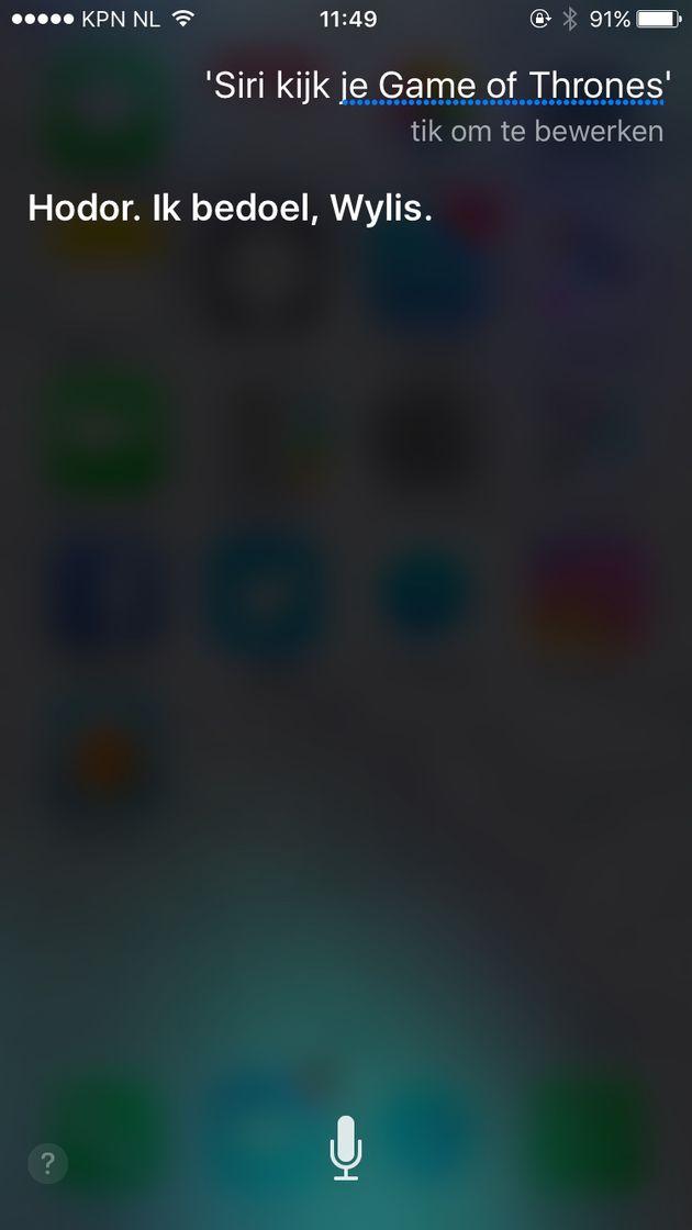 Siri kijker van Game of Thrones