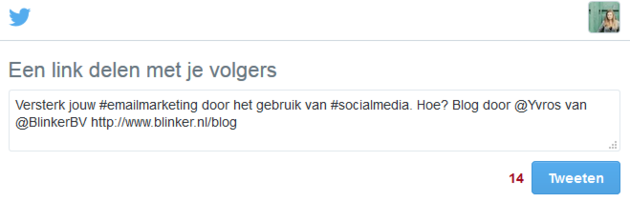 Social share Twitter