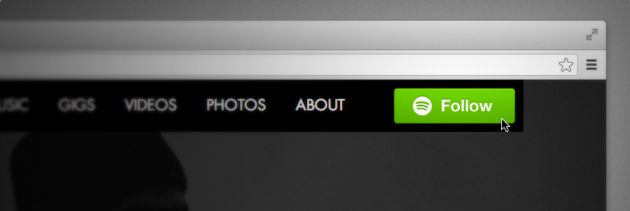 Spotify lanceert nieuwe Follow-button