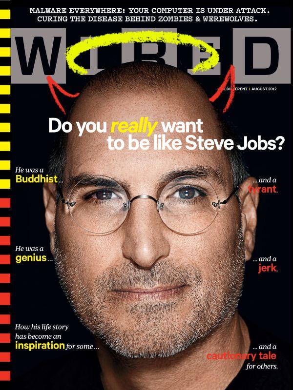 Steve Jobs op de cover bij Wired