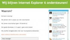 Stoppen met Internet Explorer 6? Slecht idee!