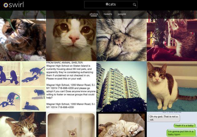 Swirl maakt fotoalbums van hashtags op Twitter en Instagram
