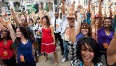 T-Mobile's flashmob voor Oprah