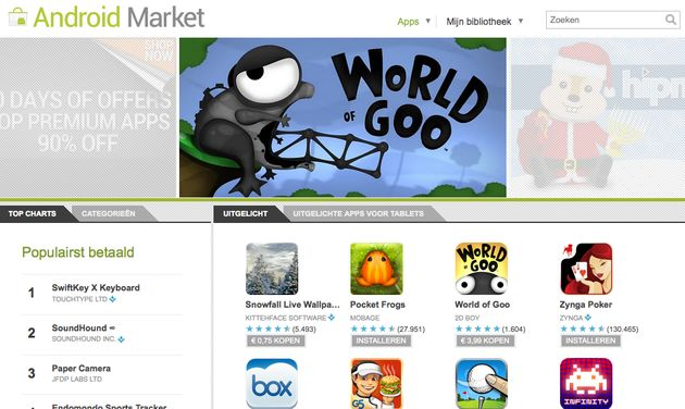 Tien miljard apps gedownload uit de Android Market