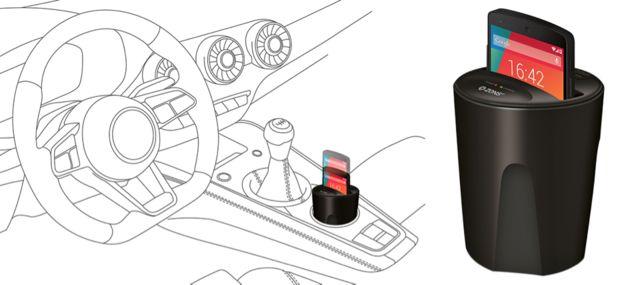 Tover je bekerhouder om tot een draadloze smartphone oplader
