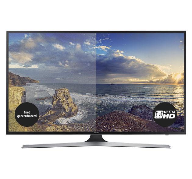 TV met niet gecertificeerd VS UltraHD logo. MU6100-720x672px