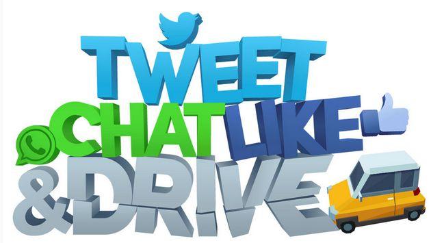 Tweet, Chat, Like & Drive: Social media en het verkeer gaan niet samen