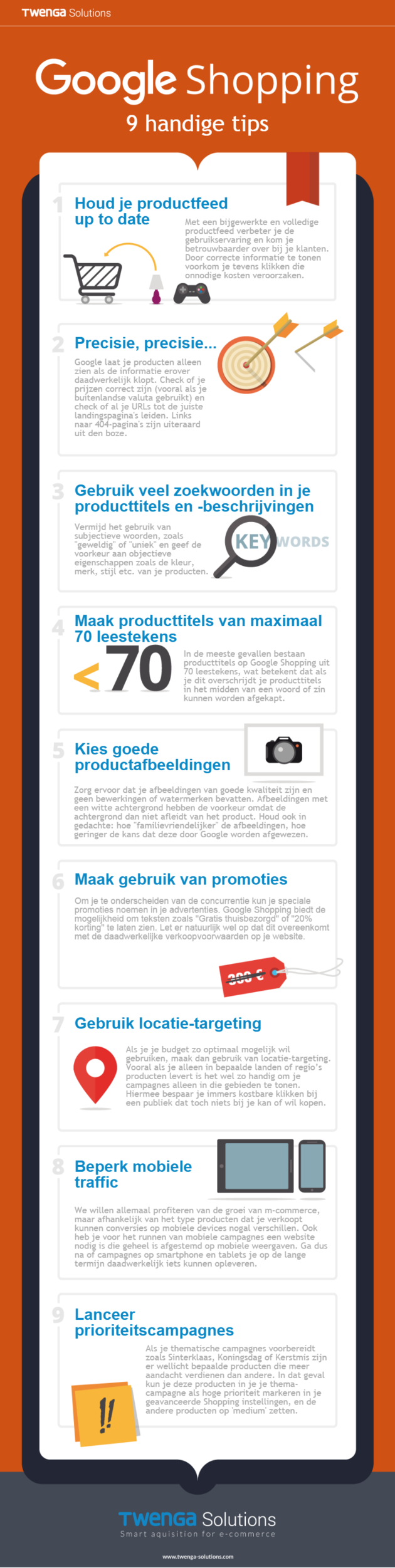 Twenga Solutions [Infographic] 9 tips voor je Google Shopping campagnes