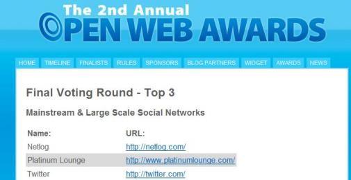 Twitter finalist Open Web Awards'08