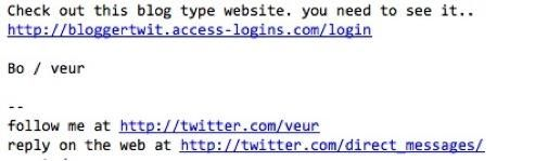 Twitter Phishing