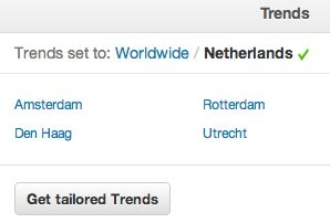Twitter Trends voor meer dan 160 nieuwe locaties