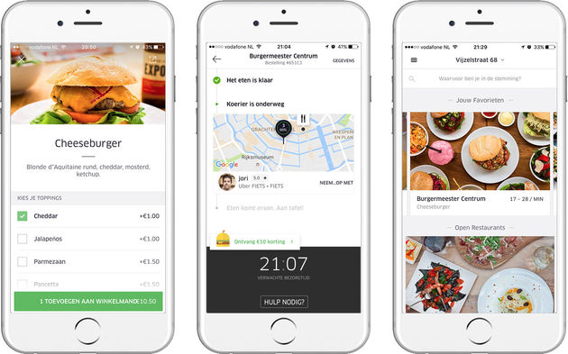 ​UberEATS op 29 september​ van start in Amsterdam