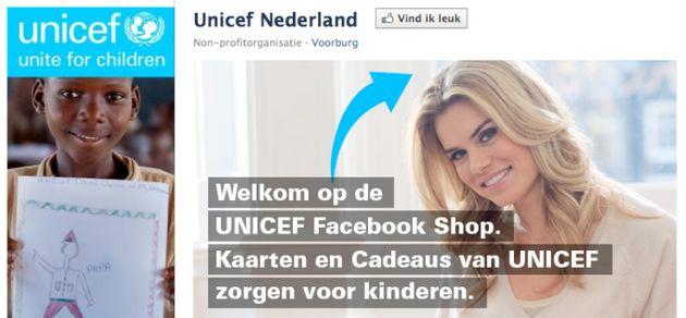 UNICEF Nederland opent shop op Facebook