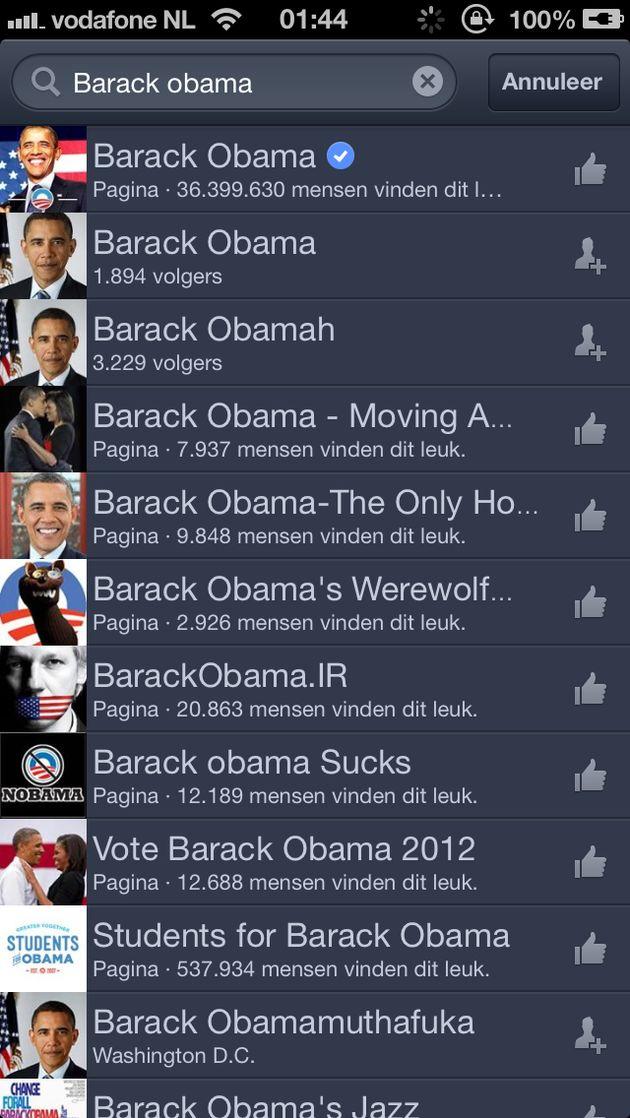 Update Facebook voor iOS toont geverifieerde accounts