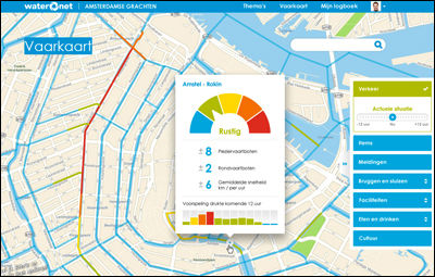 VaarWater app heeft verkeersmodel voor Amsterdamse grachten