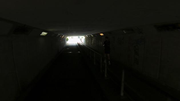 Videoframe van TomTom (in een tunnel)