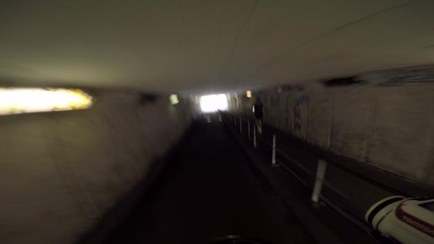 Videoframe van Gopro (in een tunnel)