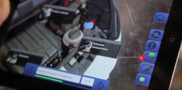 Volkswagen augmented reality app voor automonteurs