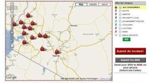 Website brengt brandhaarden Kenia in beeld