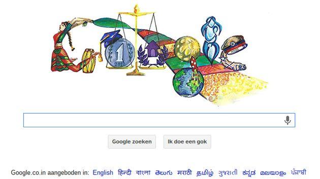Winnende 'Doodle 4 Google' siert Indiase searchpagina